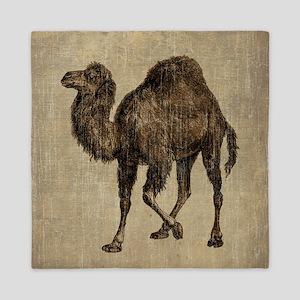 Vintage Camel Queen Duvet