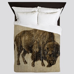 Vintage Bison Queen Duvet
