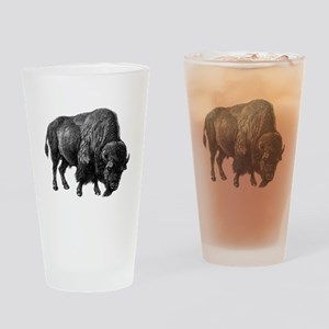 Vintage Bison Drinking Glass