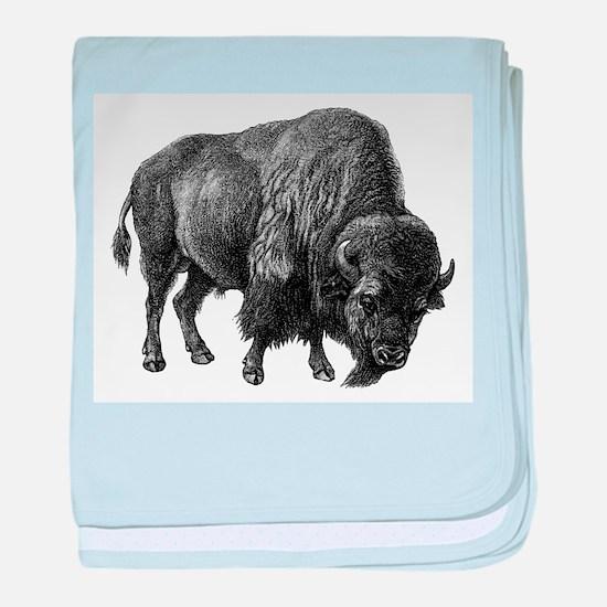Vintage Bison baby blanket