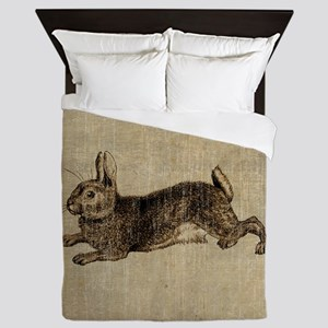 Vintage Rabbit Queen Duvet