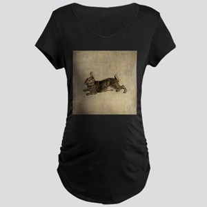 Vintage Rabbit Maternity Dark T-Shirt