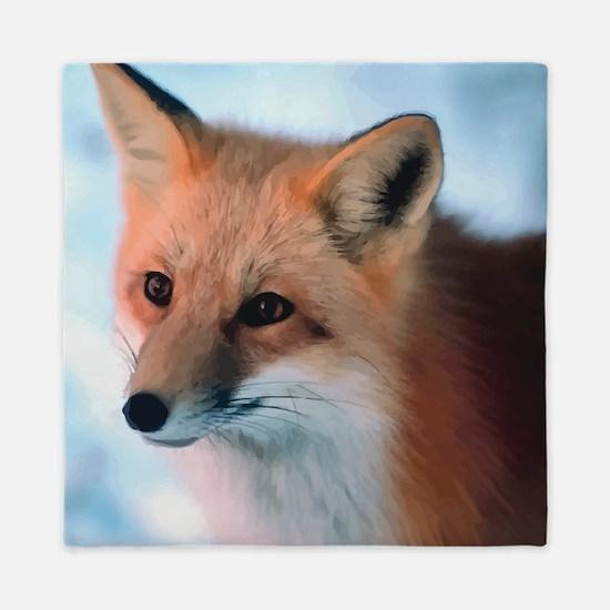 Cute Fox Queen Duvet