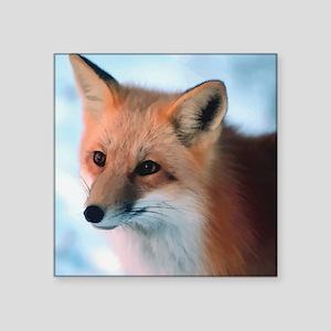 "Cute Fox Square Sticker 3"" x 3"""
