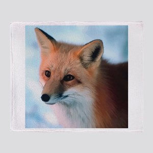 Cute Fox Throw Blanket