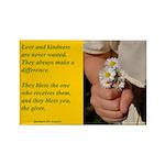 'Kindness Blesses' Rectangle Magnet