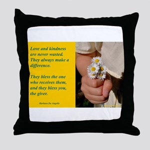 'Kindness Blesses' Throw Pillow