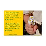 'Kindness Blesses' Mini Poster Print