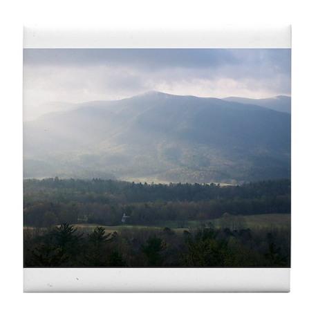 Smokey Mountain Morning Tile Coaster