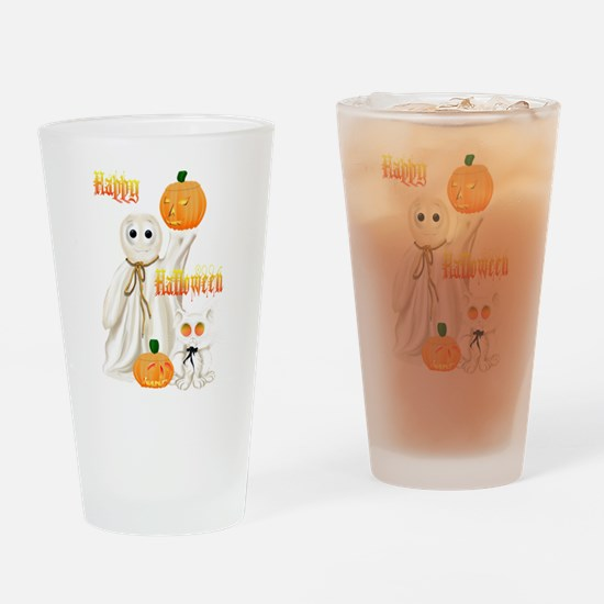 Ghost and Ghosty Kitty Drinking Glass