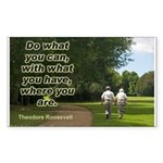 'Do What You Can' Sticker (Rectangle 10 pk)