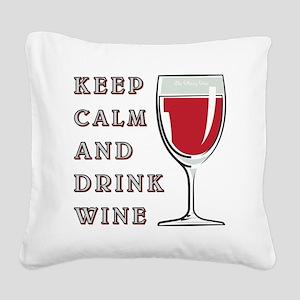 KEEP CALM... Square Canvas Pillow