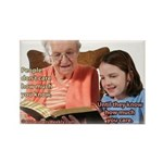 'Care' Rectangle Magnet (10 pack)