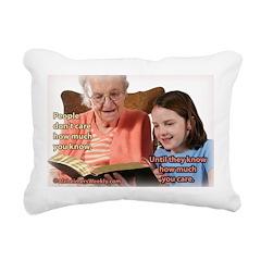 'Care' Rectangular Canvas Pillow