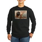 'Echoes' Long Sleeve Dark T-Shirt