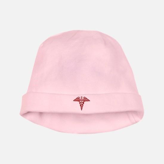 Medic: Cadaceus (red) baby hat