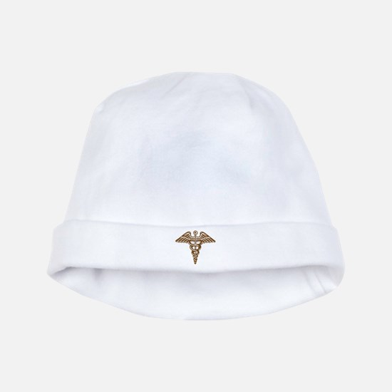 Medic:Cadaceus (brown) baby hat
