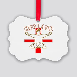 England St George Footballer Picture Ornament