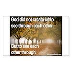 'Each Other' Sticker (Rectangle 10 pk)