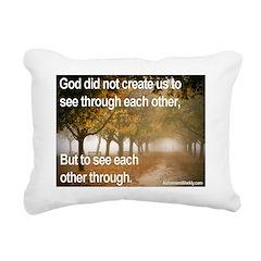 'Each Other' Rectangular Canvas Pillow