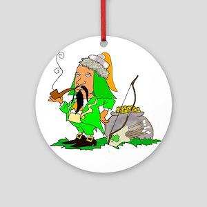Khan of the Leprechauns Ornament (Round)