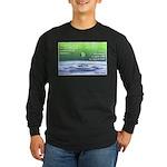 'Ripple' Long Sleeve Dark T-Shirt