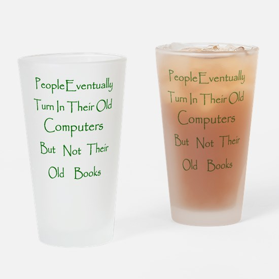Book Collector Drinking Glass