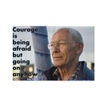 'Courage' Rectangle Magnet