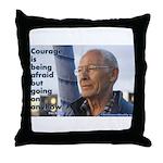 'Courage' Throw Pillow