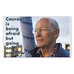 'Courage' Sticker (Rectangle 10 pk)