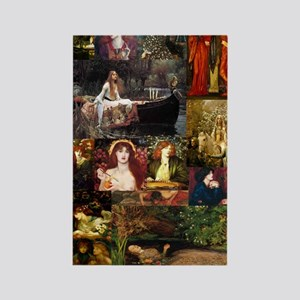 Pre-Raphaelite Collage Rectangle Magnet