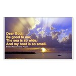 'The Sea Is So Wide' Sticker (Rectangle 10 pk)
