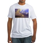 'The Sea Is So Wide' Fitted T-Shirt