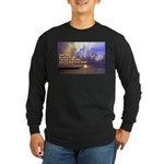 'The Sea Is So Wide' Long Sleeve Dark T-Shirt