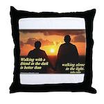 'A Friend' Throw Pillow