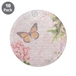 Vintage Pink flowers and butterfly 3.5