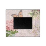 Vintage Pink flowers and butterfly Picture Frame