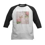 Vintage Pink flowers and butterfly Kids Baseball J
