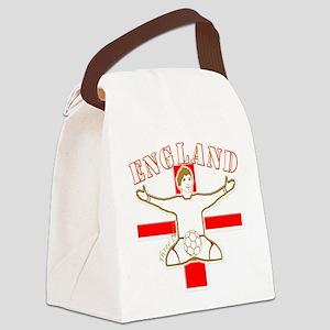 England St George Footballer Canvas Lunch Bag