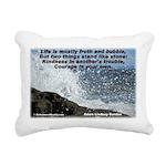 Kindness & Courage Rectangular Canvas Pillow