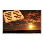 'Noble' Sticker (Rectangle 10 pk)