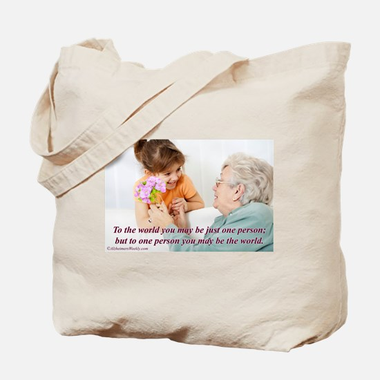 'Be the World' Tote Bag