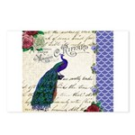 Vintage peacock collage Postcards (Package of 8)