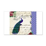 Vintage peacock collage 20x12 Wall Decal