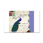 Vintage peacock collage Rectangle Car Magnet