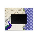 Vintage peacock collage Picture Frame
