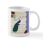 Vintage peacock collage Mug