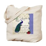 Vintage peacock collage Tote Bag