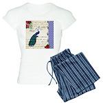 Vintage peacock collage Women's Light Pajamas