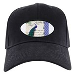 Vintage peacock collage Black Cap